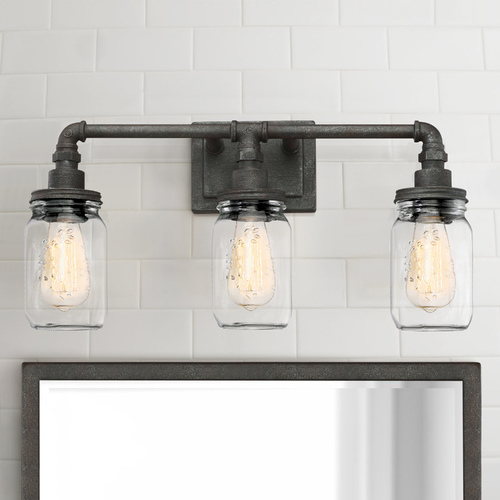 Quoizel Lighting Quoizel Lighting Squire Rustic Black Bathroom Light SQR8603RK