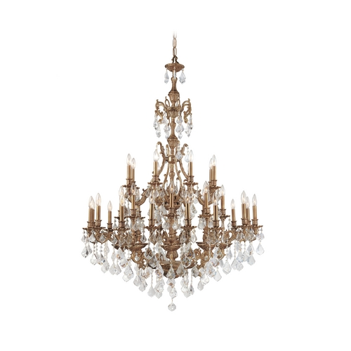 Crystorama Lighting Crystal Chandelier in Aged Brass Finish 5147-AG-CL-SAQ