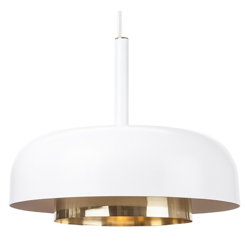 Nuevo Lighting Nuevo Lighting Shaya Pendant with White & Gold Shade  HGRA186