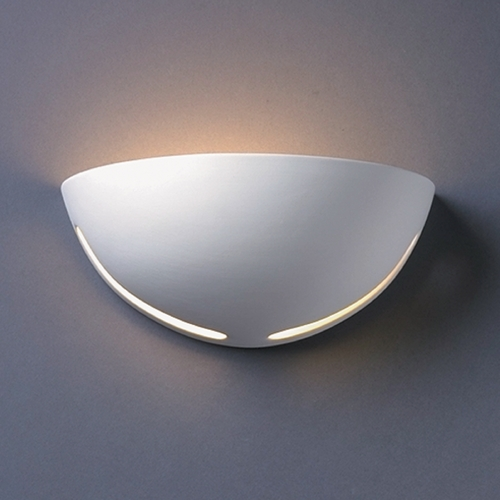 Justice Design Group Sconce Wall Light in Bisque Finish CER-1375-BIS