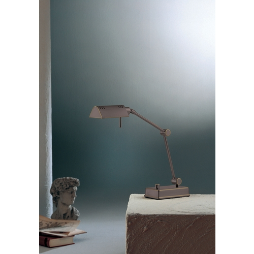 Holtkoetter Lighting Holtkoetter Modern Swing Arm Lamp in Hand-Brushed Old Bronze Finish 8346 HBOB