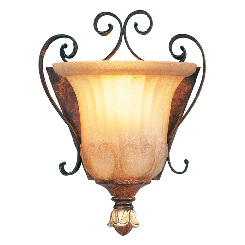 Livex Lighting Livex Lighting Villa Verona Bronze with Aged Gold Leaf Accents Sconce 8560-63