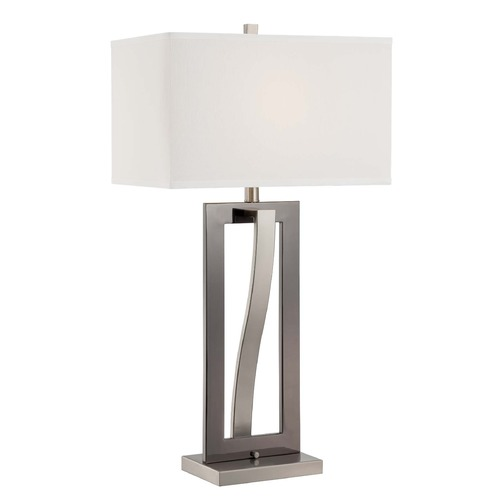 Lite Source Lighting Lite Source Sandro Polished Steel Table Lamp with Rectangle Shade LS-22570