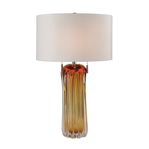 Dimond Lighting Dimond Lighting Amber Table Lamp with Drum Shade D2660W