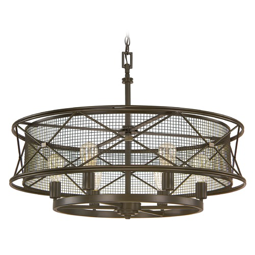 Capital Lighting Capital Lighting Jackson Oil Rubbed Bronze Pendant Light with Drum Shade 4896OR