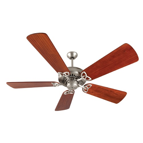 Craftmade Lighting Craftmade Lighting American Tradition Brushed Satin Nickel Ceiling Fan Without Light K10829
