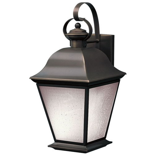 Kichler Lighting Kichler Outdoor Wall Light with White Glass in Olde Bronze Finish 10909OZ
