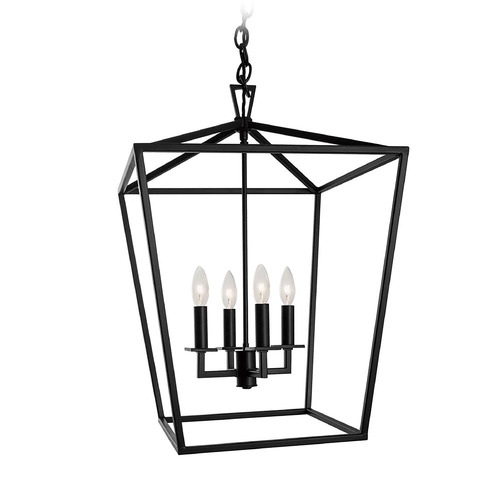 Norwell Lighting Norwell Lighting Cage Matte Black Pendant Light 1081-MB-NG