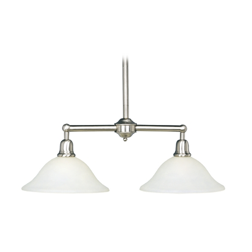 Maxim Lighting Maxim Lighting Bel Air Satin Nickel Island Light with Bell Shade 11092SVSN