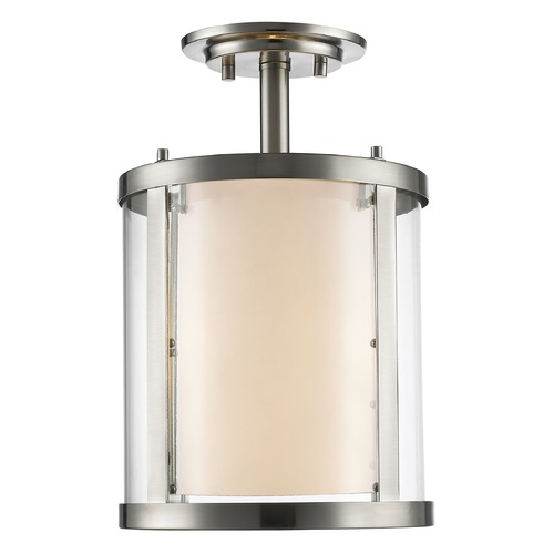 Z-Lite Z-Lite Willow Brushed Nickel Semi-Flushmount Light 426SF-BN