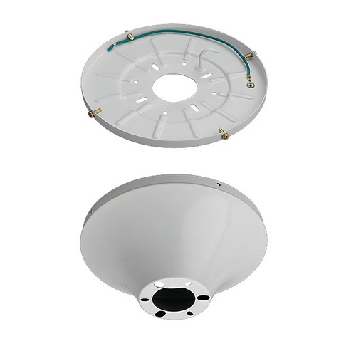Monte Carlo Fans Ceiling Adaptor in White Finish MC192WH