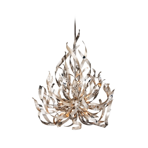 Corbett Lighting Corbett Lighting Graffiti Silver Leaf and Poli Island Light 154-49