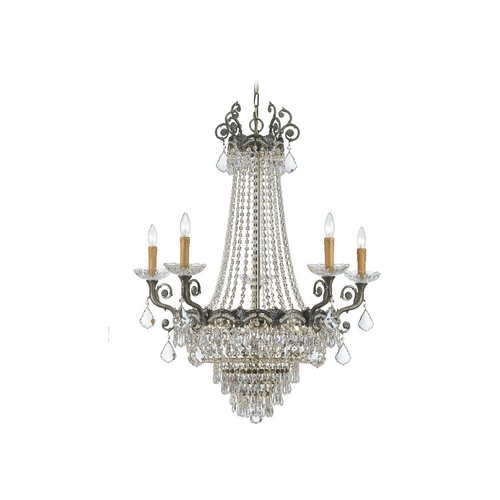 Crystorama Lighting Crystal Chandelier in Historic Brass Finish 1486-HB-CL-MWP