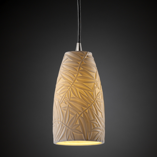 Justice Design Group Justice Design Group Limoges Collection Mini-Pendant Light POR-8816-28-BMBO-NCKL