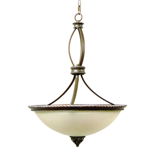 Craftmade Lighting Craftmade Mia Aged Bronze, Vintage Madera Pendant Light with Bowl / Dome Shade 7520AGVM3