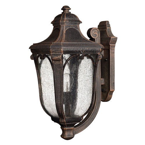 Hinkley Lighting Outdoor Wall Light with Clear Glass in Mocha Finish 1314MO