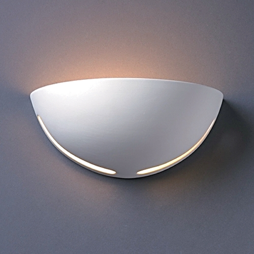 Justice Design Group Sconce Wall Light in Gloss White Finish CER-1375-WHT