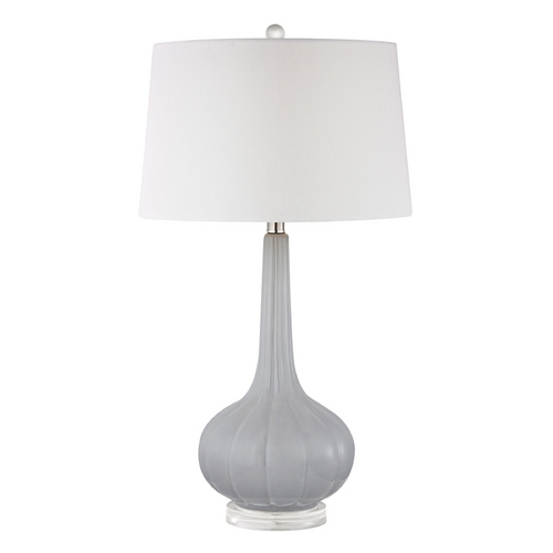 Dimond Lighting Table Lamp with White Shades in Pastel Blue Finish D2460