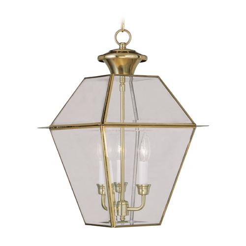 Livex Lighting Livex Lighting Westover Polished Brass Outdoor Hanging Light 2385-02
