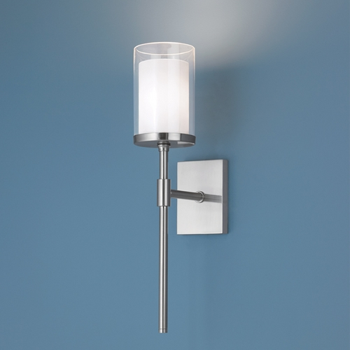 Norwell Lighting Norwell Lighting Kimberly Brush Nickel Sconce 8970-BN-CL
