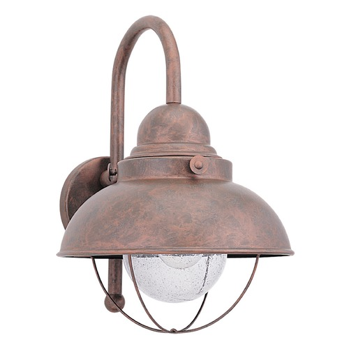 Sea Gull Lighting Sea Gull Lighting Sebring Weathered Copper LED Outdoor Wall Light 887191S-44