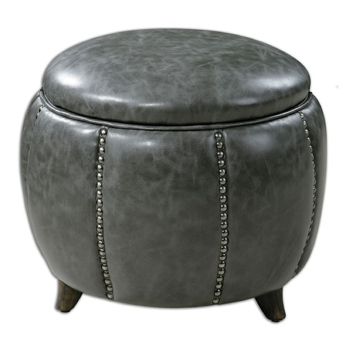 Uttermost Lighting Uttermost Linford Round Storage Ottoman 23187