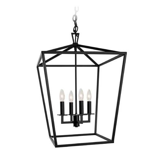Norwell Lighting Norwell Lighting Cage Polished Nickel Pendant Light 1081-PN-NG