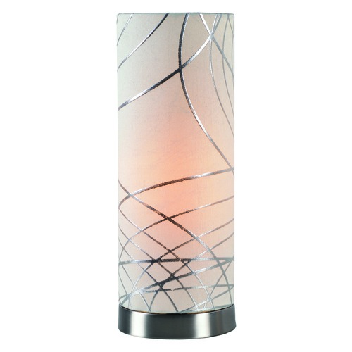 Kenroy Home Lighting Circo Brushed Steel Accent Lamp by Kenroy Home 32826BS