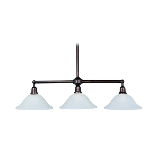 Maxim Lighting Island Light with Beige / Cream Glass in Oil Rubbed Bronze Finish 11093SVOI