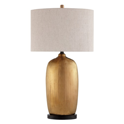 Lite Source Lighting Lite Source Mateo Metallic Glazed Table Lamp with Drum Shade LS-23197