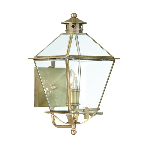 Troy Lighting Outdoor Wall Light with Clear Glass in Charred Iron Finish BCD8951CI