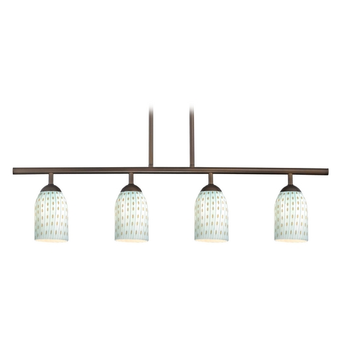 Design Classics Lighting Modern Island Light in Bronze Finish 718-220 GL1003D