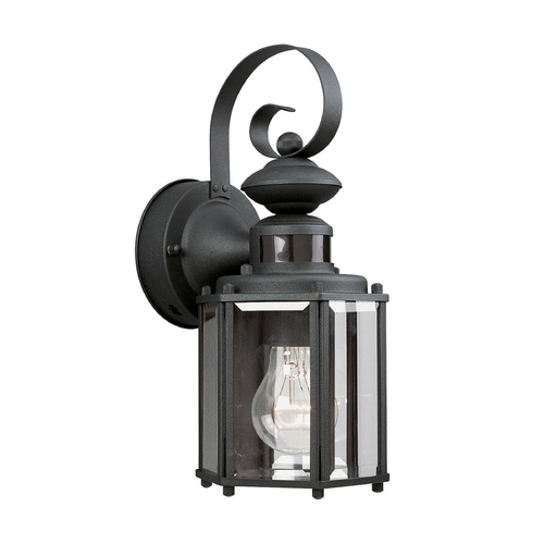 Progress Lighting Progress Outdoor Wall Light with Clear Glass in Black Finish P5662-31