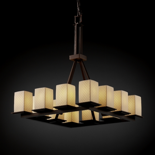 Justice Design Group Justice Design Group Limoges Collection Chandelier POR-8663-15-CHKR-DBRZ