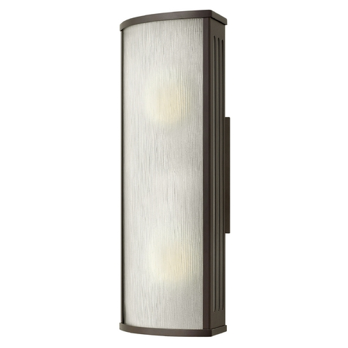 Hinkley Lighting Outdoor Wall Light with White Glass in Bronze Finish 2114BZ