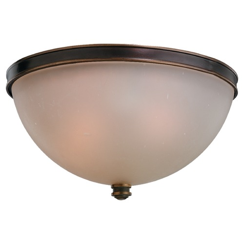 Sea Gull Lighting Sea Gull Lighting Warwick Autumn Bronze Flushmount Light 75332-715