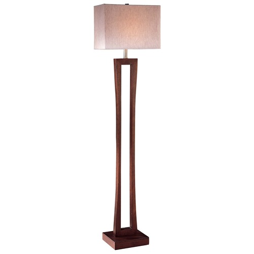 Minka Lavery Minka Metropolitan Cherry Floor Lamp with Rectangle Shade 20710-625