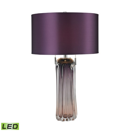 Dimond Lighting Dimond Lighting Purple LED Table Lamp with Drum Shade D2661-LED