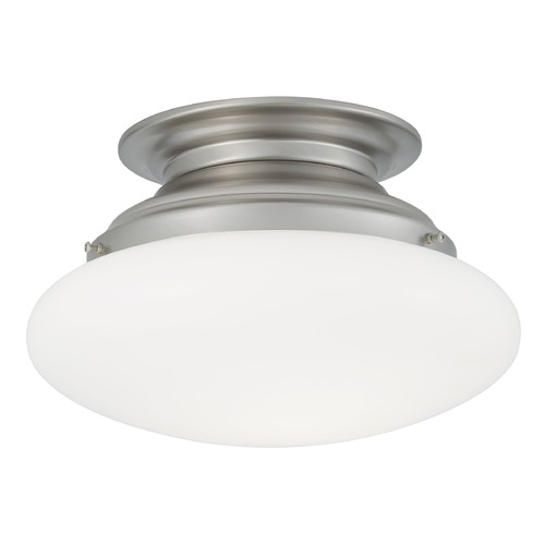 Norwell Lighting Norwell Lighting Clayton Brush Nickel Semi-Flushmount Light 5370-BN-SO