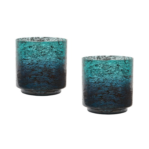 Dimond Lighting Emerald Ombre Hurricane- Set Of 2 876028/S2