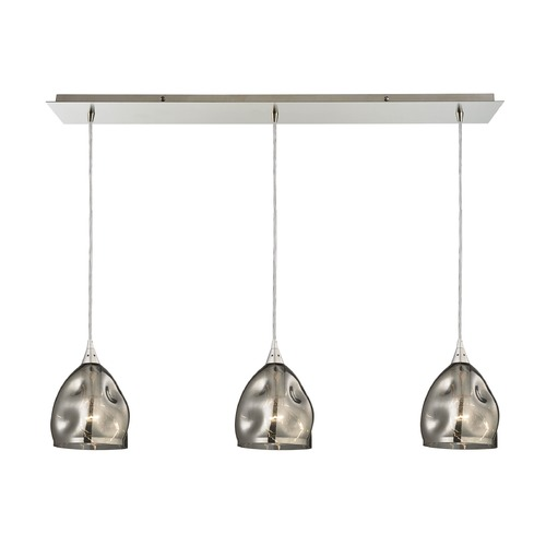 Elk Lighting Elk Lighting Niche Satin Nickel Multi-Light Pendant with Bowl / Dome Shade 31596/3LP