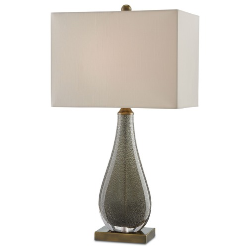 Currey and Company Lighting Currey and Company Nightfall Charcoal Brown/antique Brass Table Lamp with Rectangle Shade 6000-0026