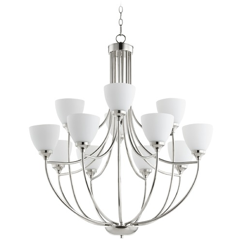 Quorum Lighting Quorum Lighting Enclave Polished Nickel Chandelier 6059-12-62
