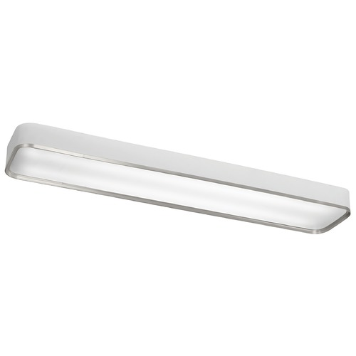 Kichler Lighting Kichler Flushmount Light with White in Brushed Aluminum Finish 10425BA