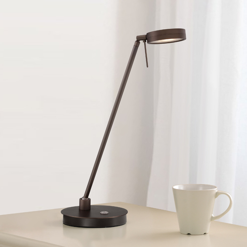 George Kovacs Lighting Modern LED Desk Lamp in Copper Bronze Patina Finish P4306-647