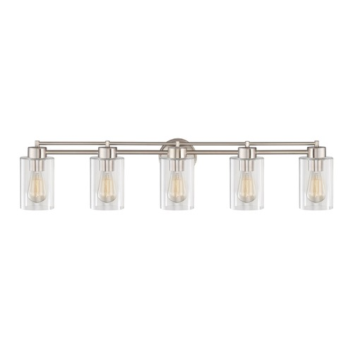 Design Classics Lighting Satin Nickel Bathroom Light 706-09 GL1040C