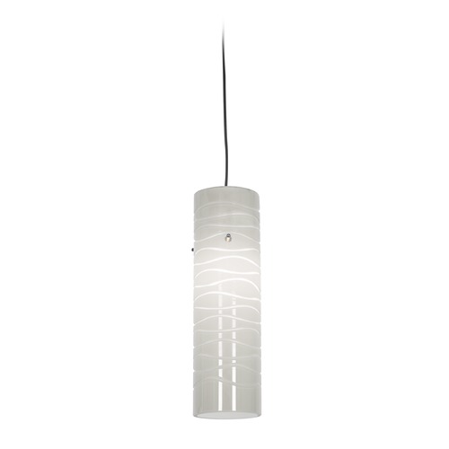 Access Lighting Access Lighting Zeta Bronze Mini-Pendant Light with Cylindrical Shade 94932-BRZ/WHTLN