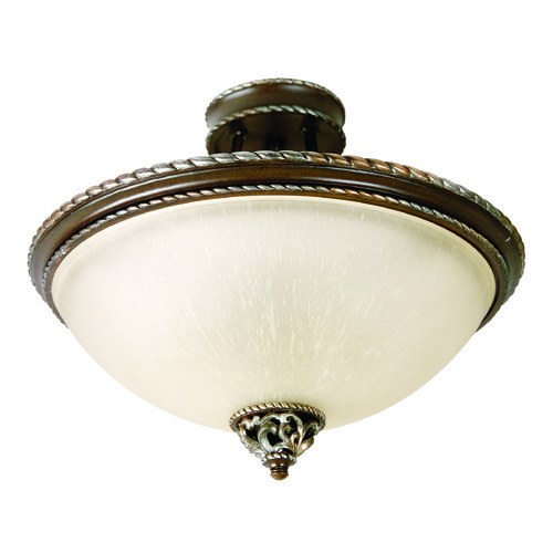 Jeremiah Lighting Jeremiah Mia Aged Bronze, Vintage Madera Semi-Flushmount Light 7518AGVM3
