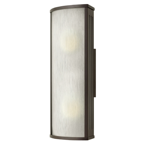 Hinkley Lighting Outdoor Wall Light with White Glass in Bronze Finish 2114BZ-GU24
