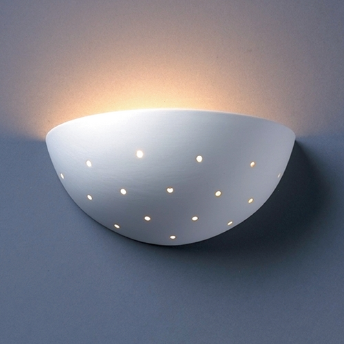 Justice Design Group Sconce Wall Light in Bisque Finish CER-1390-BIS